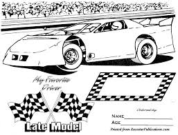 Sprint Car Coloring Pages Kids Pictures
