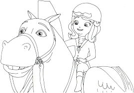 Princess Sofia Coloring Pages Riding Minimus