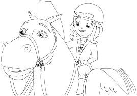 Princess Sofia Coloring Pages Riding Minimus