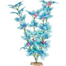 Petco Flower Ball Aquarium Decor by Amazon Com Imagitarium Fiesta Silk Blue Aquarium Plant 12