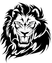 African Tribal Lion Tattoo Design