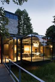 100 House In Nature Glass Surrounded By