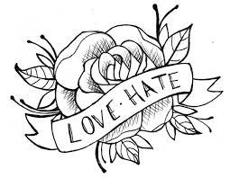 Coloringsco Easy Drawing Design Ideas Tattoo Rose