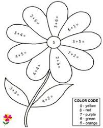 Simple Addition Color By Numbers Worksheets