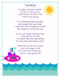 FREE goodbye poem for your students from Ms Fultz s Corner I