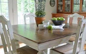 Chalk Paint Grandma S Antique Dining Table And Chairs Painted Furniture
