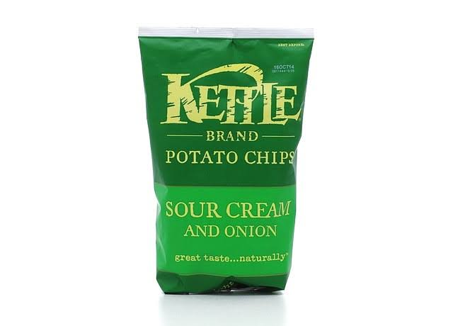 Kettle Brand Potato Chips - Sour Cream and Onion, 142g