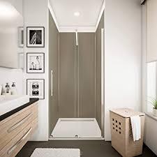 schulte dekodesign wandpaneele farbe 5 profile wandverkleidung für dusche und bad taupe 90 x 210 cm