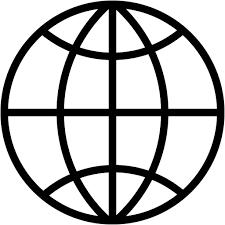 Earth global globe network planet web world icon