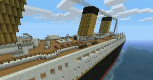 Minecraft Titanic Sinking Animation by R M S Titanic 100th Year Commemoration Minecraft Project