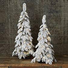 Faux Snowy Pre Lit LED Tabletop Tree