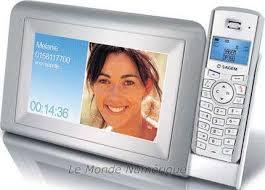 cadre numérique et téléphone sagem dp 360 moniteur cadre photo