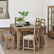 Table Chair With Bench Cotswold Reclaimed Wood Upholstere Fresh Dining