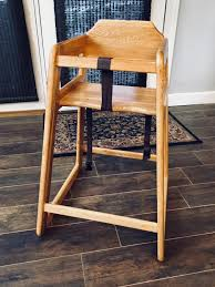 Best Guc {restaurant-style} Classic Oak High Chair By