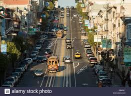 Knob Hill San Francisco Cable Cars California Street Looking