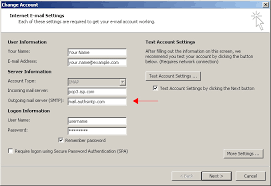 Outlook 2010 authenticated SMTP server default SMTP port 25 setup