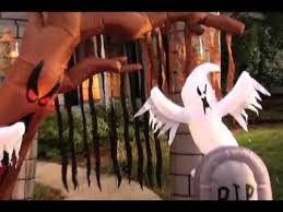Inflatable Halloween Cat Archway by Graveyard Inflatable Archway Halloween Decoration Youtube