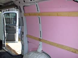 Foam Insulating Panels Installed In A Van