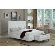 King Platform Bed With Leather Headboard by Leather Platform Beds