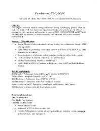 Download Our Sample Of Medical Billing Resume Examples Foodcity Coder Objective