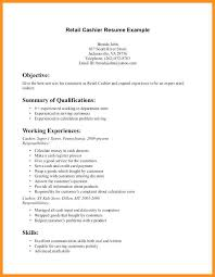 Resume Examples For Cashiers Example Cashier Sample