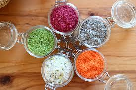 geschenke aus der küche farbsalze keks koriander