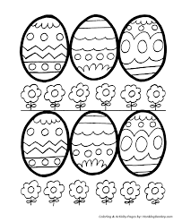 Decorative Easter Eggs For Coloring