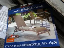 Kirkland Brand Patio Furniture by Kirkland Signature Commercial Sling Chaise Lounge