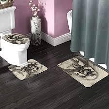 wars badezimmerteppich set 3 teilig rutschfeste badematte uförmiger konturteppich wc deckelbezug weiche rutschfeste matten teppich