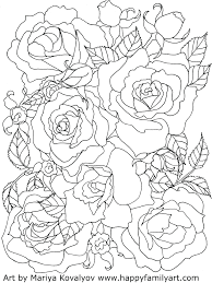 Skulls And Roses Colouring Pages Sugar Coloring Flowers Full Size