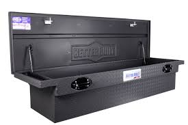 100 Black Truck Box Single Lid Low Profile Matte DB Supply