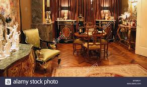 Antique Dining Room In Empire Style