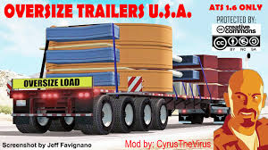 OVERSIZE TRAILERS U.S.A. ATS 1.6.X MOD - American Truck Simulator ... Truck Trailer Transport Express Freight Logistic Diesel Mack Two Semi Tractor Trucks With Trailers At A Truckstop On Inrstate Volvo For Sale Commercial 888 8597188 Yellow Peterbilt And Reefer Thermo King Show Of Truck Beamng Drive Alpha Pickup Truck Trailer Small Island Usa Fuel Tank 10 Ats American Simulator Mod Rc Semi Tamiya With Dickie Linde H40 Fork Lift Skins Trailers Mexicousa Companies 12 Chicago Illinois Usa May 3 2014 Stock Photo 213470983 Shutterstock Android Ios Youtube Double Box