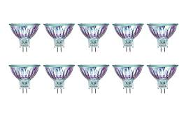 10 pcs mr16 50w 12v halogen flood reflector light bulbs exn 50