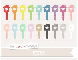 Heart House Key Clipart Illustrations Creative Market