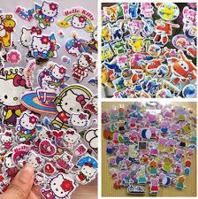 BUY 10 GET 1 FREECute Cartoons Bubble Sticker Hello Kitty Princess Goodies Bag
