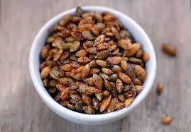 Toasting Pumpkin Seeds In The Oven by Chili Roasted Pumpkin Seeds Spicy Pumpkin Seeds Recipe