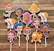 Bubble Guppies Bathroom Decor by Best 25 Bubble Guppies Cake Toppers Ideas On Pinterest Bubble