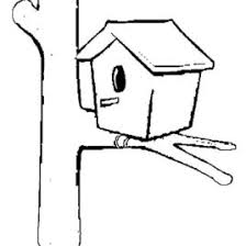 Simple Bird House Coloring Pages Best Place To Color