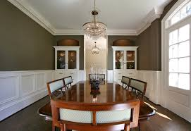 Built In Dining Room Hutch Dining Room Traditional With Wood Trim
