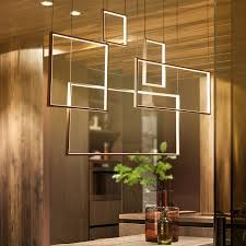 Aliexpress Buy Square Modern LED Chandelier Acrylic Lights Lamp For Dinning Room Living Hanging Pendant Fixture Free Shipping From