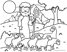 The Good Shepherd Lost Sheep Coloring Page A Crafting