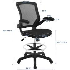 Amazon.com: Modway Veer Drafting Chair In Black - Reception Desk ... Highback Big And Tall Office Chair 400lbs Ergonomic Pu Leather Balans 3d Office Chair Ergo Balance Kos Ireland 15 Best Chairs And Homeoffice 2019 Fabric Desk Fabrics Posture Mandaue Foam Philippines Guide How To Buy A Top 10 The For Digital Trends 12 To Include In Your Keribrownhomes Neutral Seating Accsories