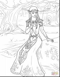 Astonishing Princess Zelda Coloring Pages With Legend Of