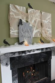 Halloween Mantel Scarf Pattern by Ideas Spooky Mantel Design Ideas With Halloween Theme To Make