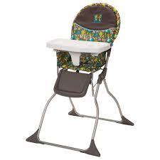 cosco slim fold high chair wild things