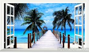 articles with beach scene wall murals sale tag tropical wall