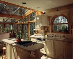Log Cabin Kitchen Cabinet Ideas by Amazing Straight Shape Lodge Style Kitchen With Silver Color