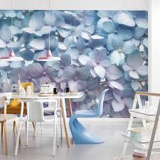 komar light blue floral wall mural 8 961