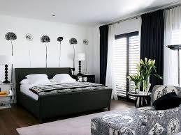 dekorieren schlafzimmer in schwarz und weiß sehr